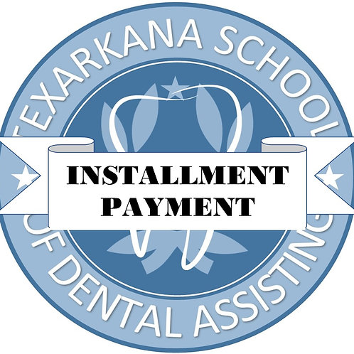 INSTALLMENT PAYMENT OPTION - INITIAL PAYMENT
