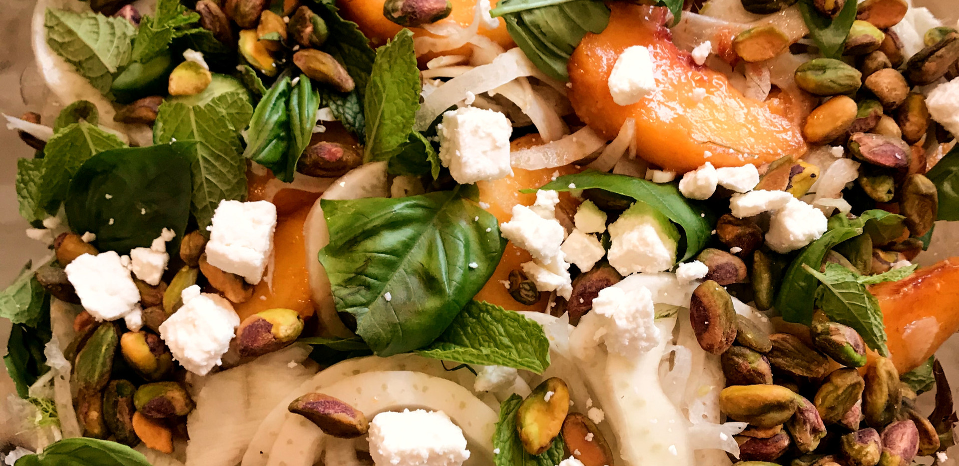 Shaved Fennel and Peach Salad