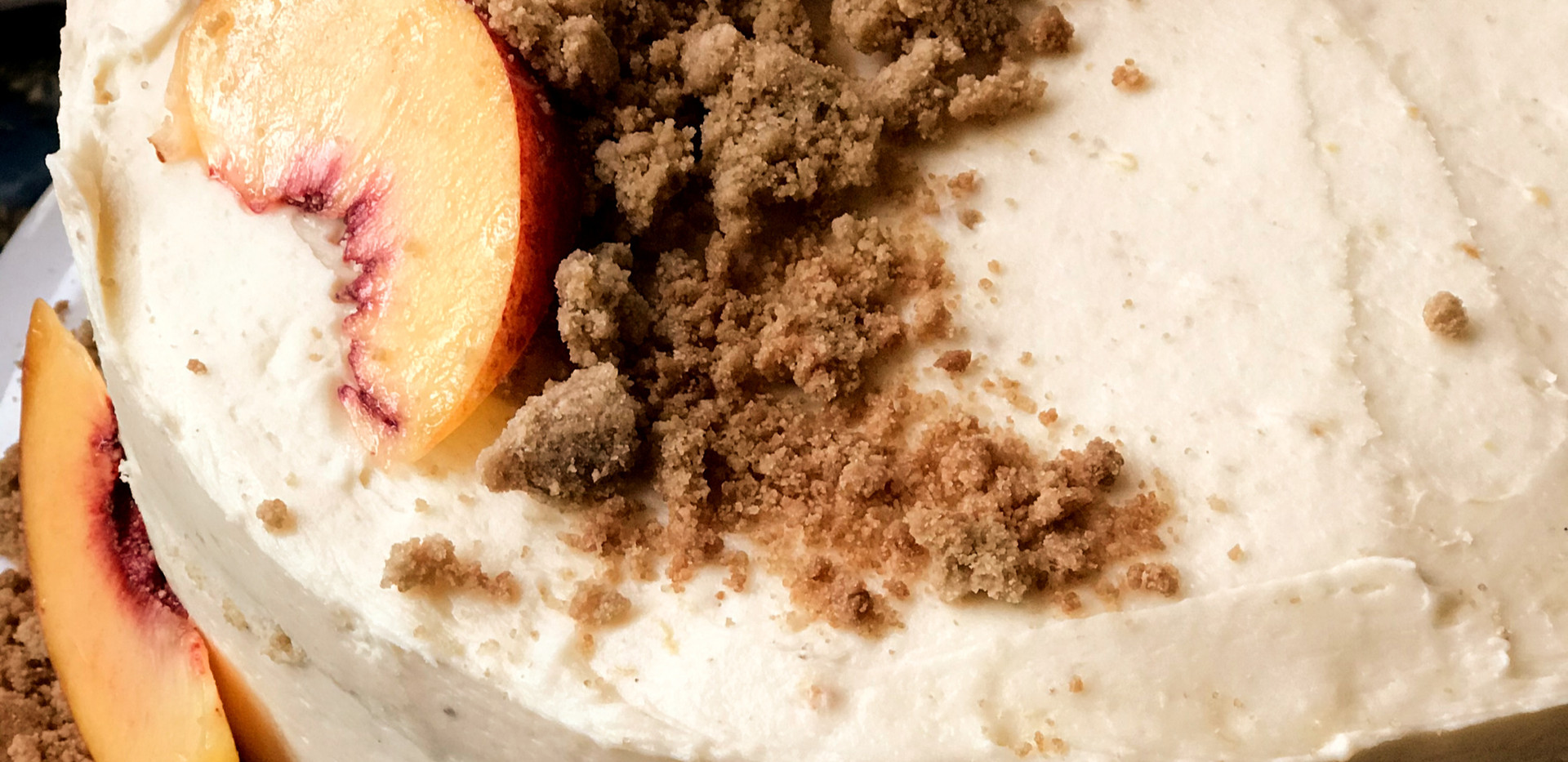 Peach Cake with Peach Marscapone Frosting