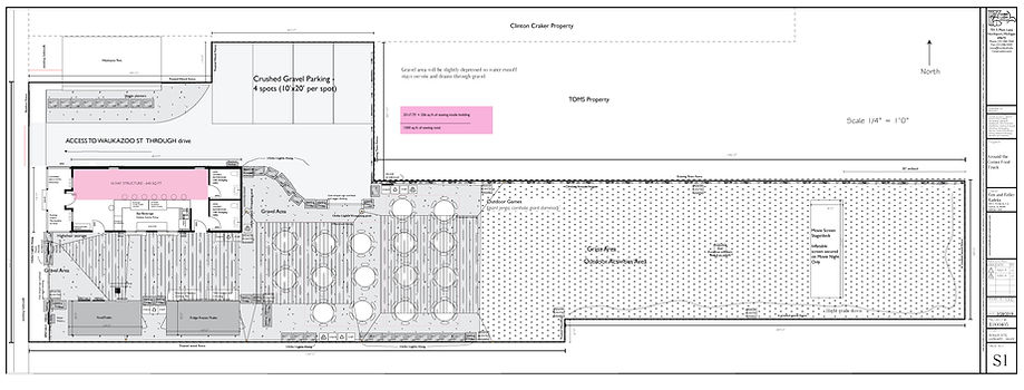 site plan, around the corner, food trailer