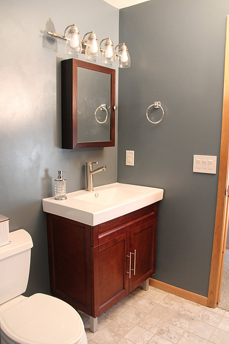 Simple Modern Vintage Bath Remodel