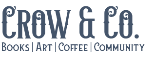 Crow and Company: Books, Art, Coffee, Community Logo Text