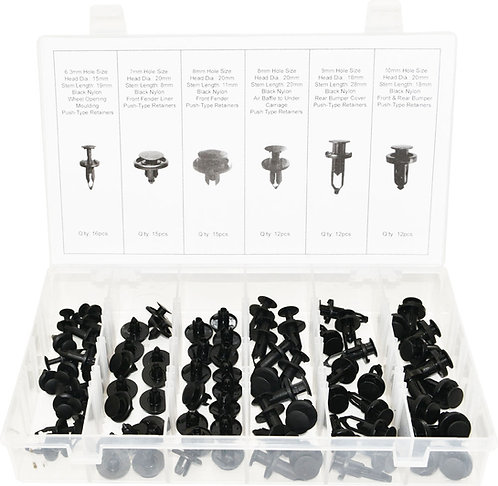Swordfish 60430 - 82pc Universal Auto Body Push Type Retainer Assortment