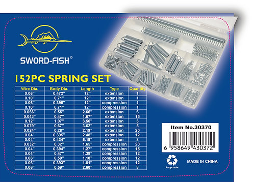 Swordfish 30370 - 152pc Larger Size Extension and Compression Spring Assortment