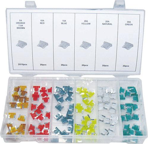 Swordfish 51150 - 120pc Low Profile Mini Fuse Assortment