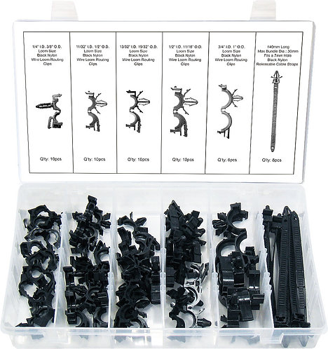 Swordfish 60650 - 54pc Wire Harness Routing Clip Assortment