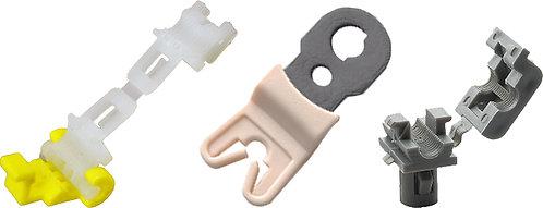 SWORDFISH 62126-3pc Door Lock Rod Clip Set