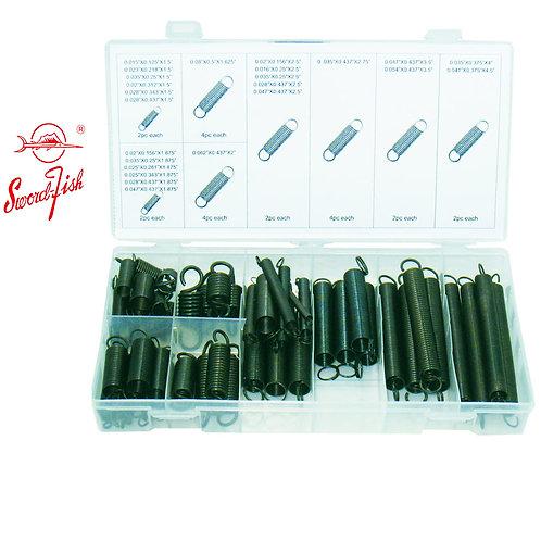 Swordfish 32020 - 54pc Black Oxide Extension Spring Assortment