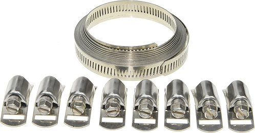 Swordfish 80060 - 12.7mm Width Band Stainless Steel Hose Clamp Set