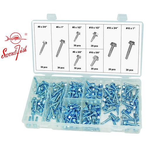 Swordfish 31510 - 200pc Hex Head Self-Drill Screw Assortment