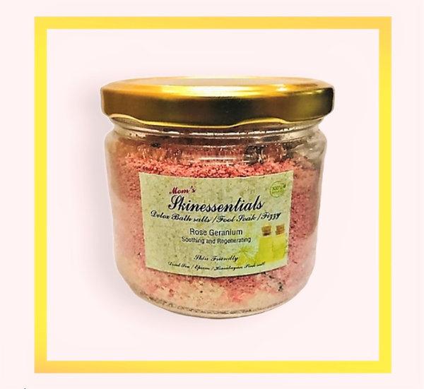 Soothing and Regenerating Rose Geranium Bath Salt and Foot Soak