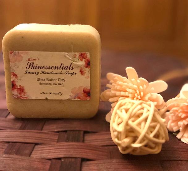 Bentonite Clay Scrub Soap with Tea Tree for Oily Skin