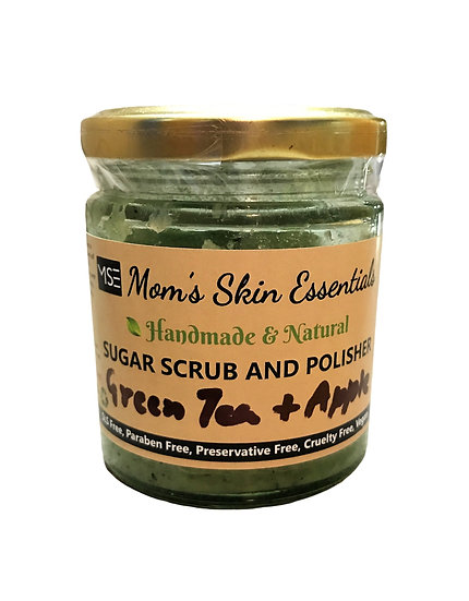 Green Tea and Apple Sugar Face and Body Scrub