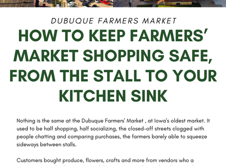 How to Keep Farmers' Market Shopping, Safe from your Stall to your Kitchen Sink!