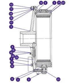 БА15-1.2.1БС - Пневмомуфта