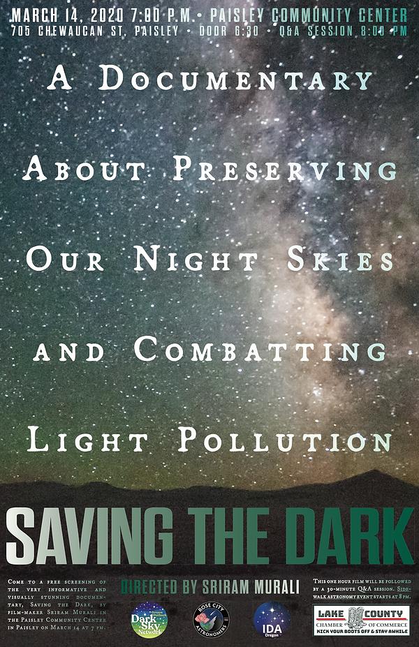Saving the Dark poster_Paisley2020 copy.