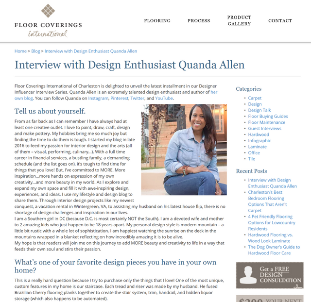 Interview with Charleston International Floorcoverings