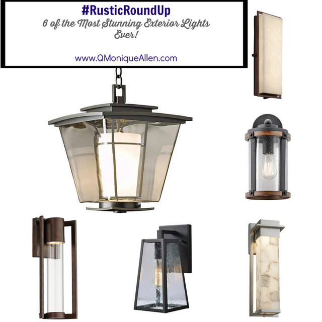 #RusticRoundUp - 6 of the Most Stunning Exterior Light Fixtures Ever!