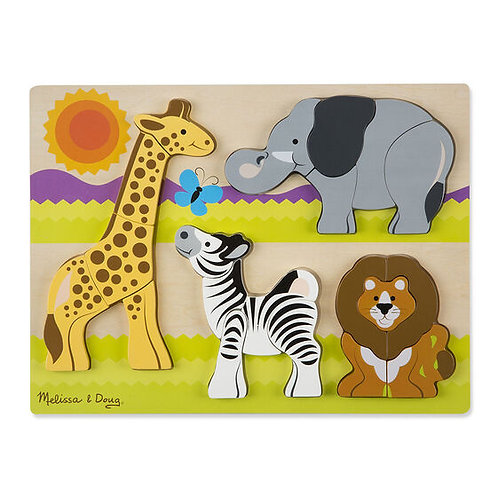 Wooden Chunky Jigsaw Puzzle: Safari