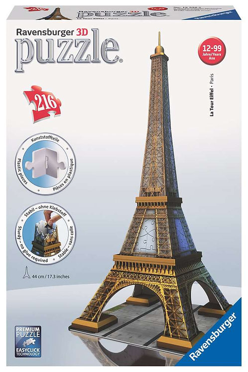 216pc 3D Puzzle: Eiffel Tower