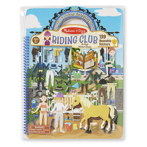 Deluxe Puffy Sticker Album - Riding Club