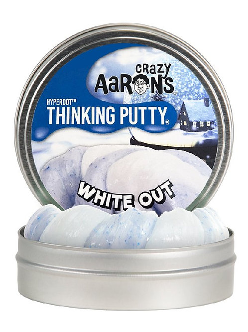 Crazy Aaron's Thinking Putty - Hyperdot - White Out WT020