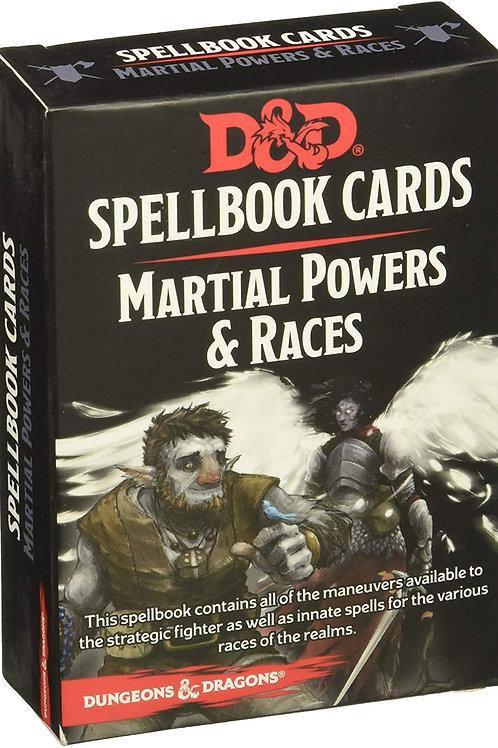 D&D - Martial Powers & Races Spellbook Cards