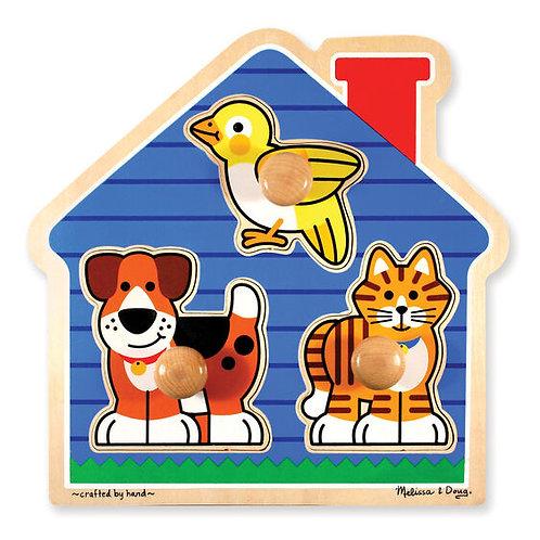 Large Peg Puzzle: House Pets