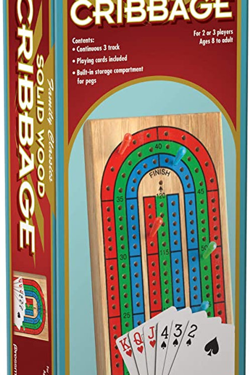 Solid Wood Cribbage