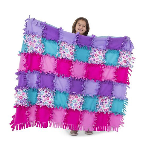 Created by Me! - Flower Fleece Quilt