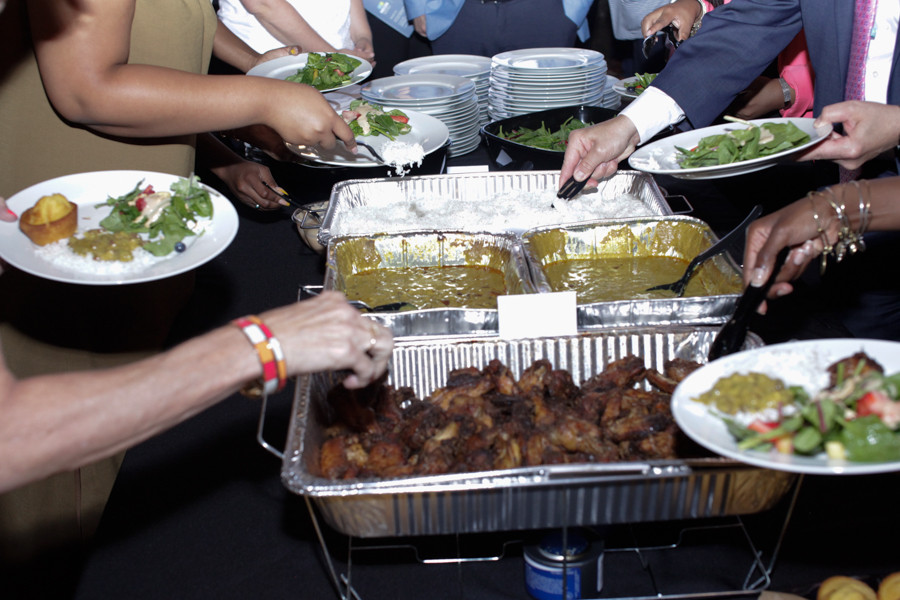 Delicious food catered by NEON client K's Revolutionary Catering.