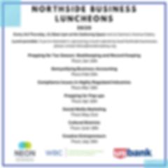 Northside Business Luncheon schedule_soc