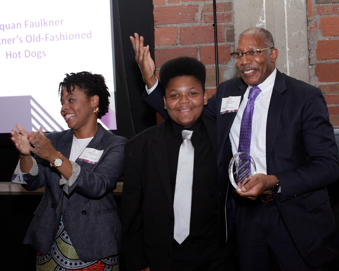 Youth in Business Awardee, Jaequan Faulkner of Mr. Faulkner's Old-Fashioned Hot Dogs