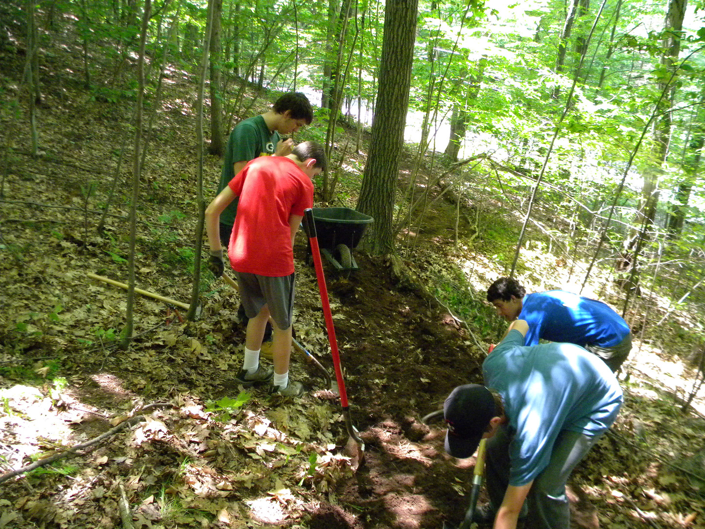 Trail building with Scouts