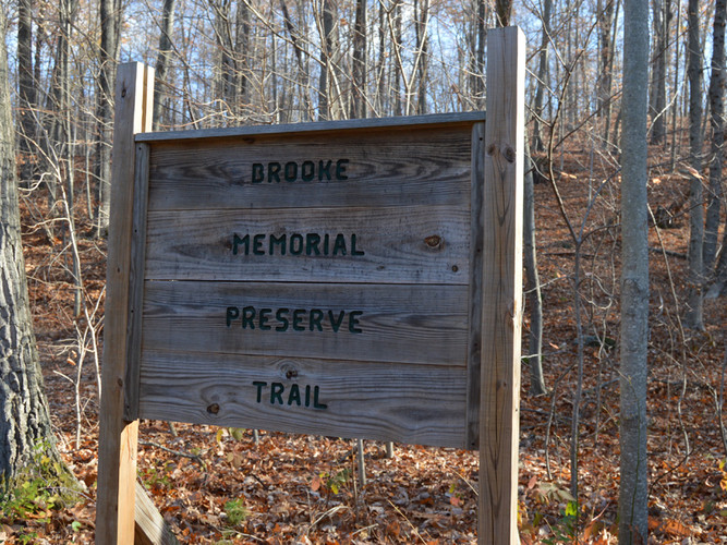 Brook Preserve sign