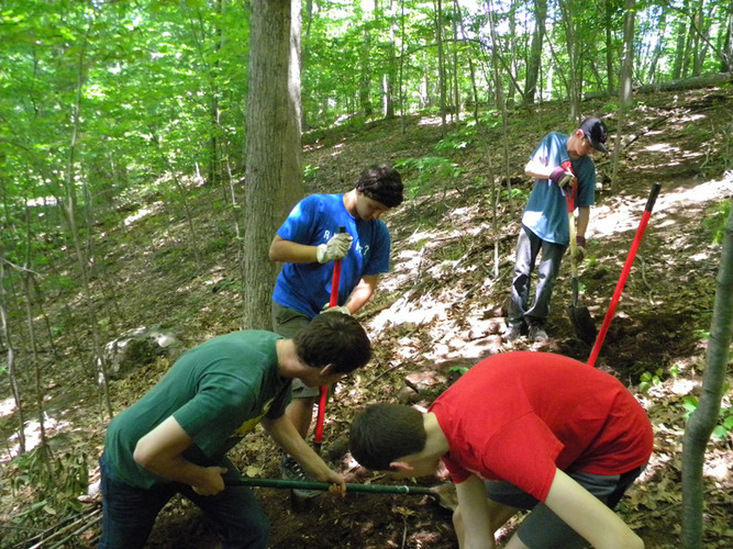 Troop 92 trail work