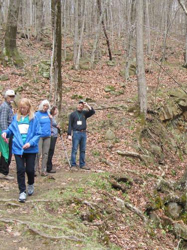 CLT led hike to Roaring Brook Falls