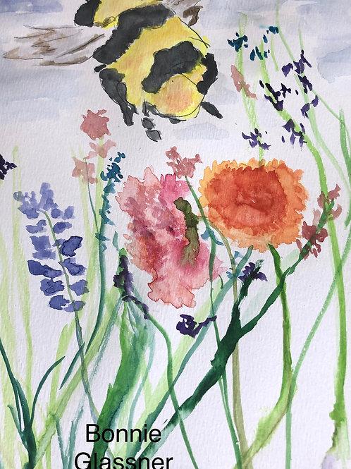 Watercolor Flower Buzz