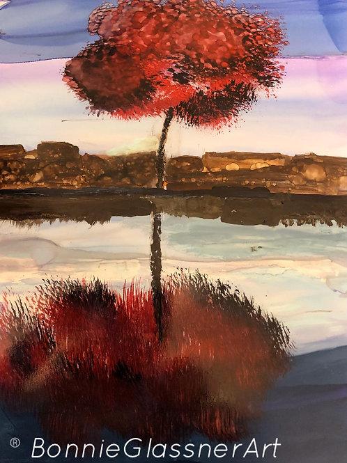 Fall Sunset Montrose Beach