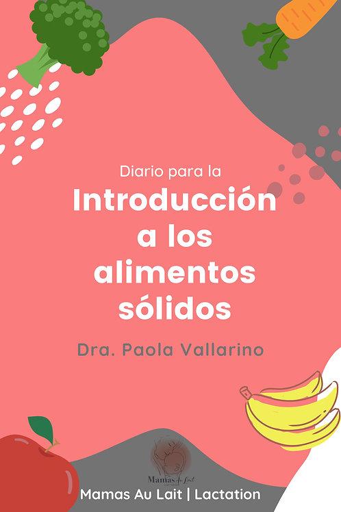 Diario para la introducción a los alimentos sólidos