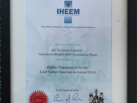 Lord Carter Innovation Award – QE Facilities Highly Commended
