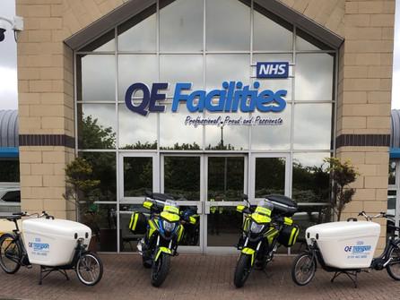 QE Transport Deliver Pedal Power.