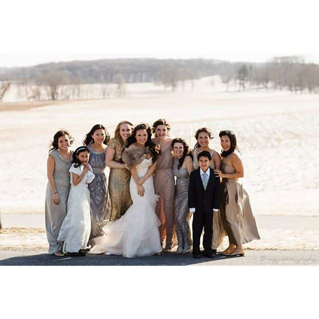 Instagram - I loved how all the bridesmaids wore different dresses but kept to t