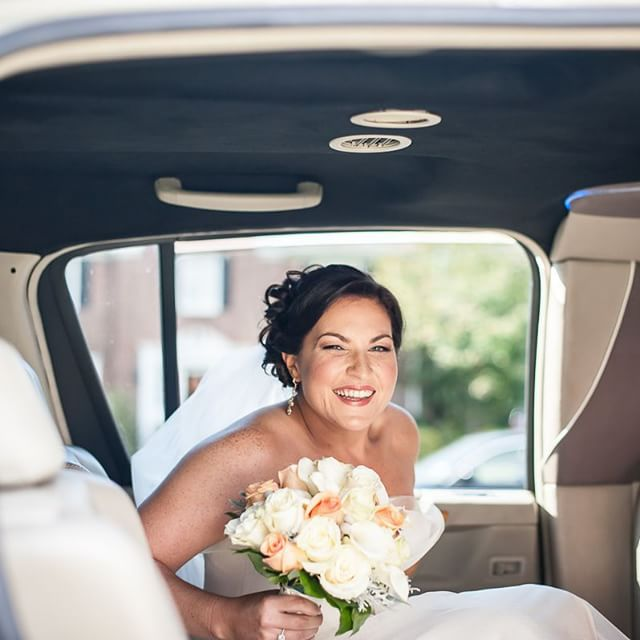 Instagram - She's hitched!! #bride #flowers #limo #bigday #wedding #married #tak