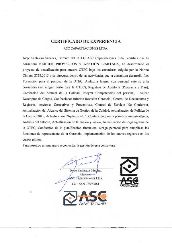 CERTIFICADO EXPERIENCIA NEHUEN-ASC CAPACITACIONES