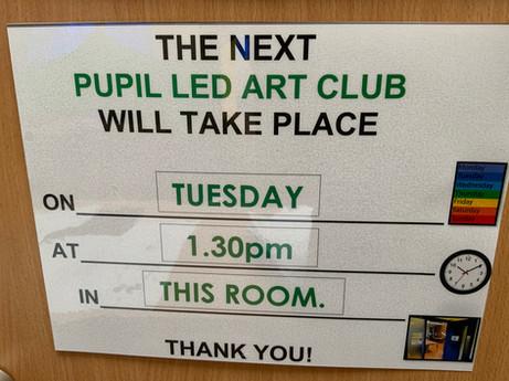 Art club sign - KWU.JPG