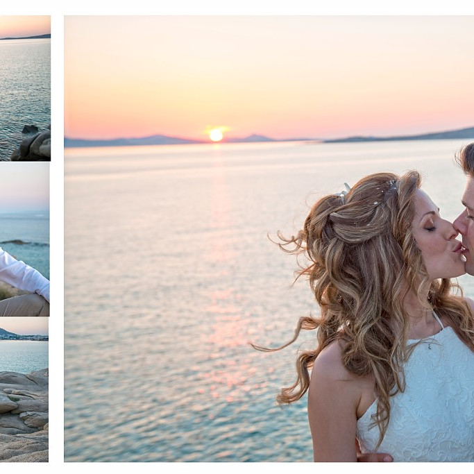 G & G, Paros, Beach wedding