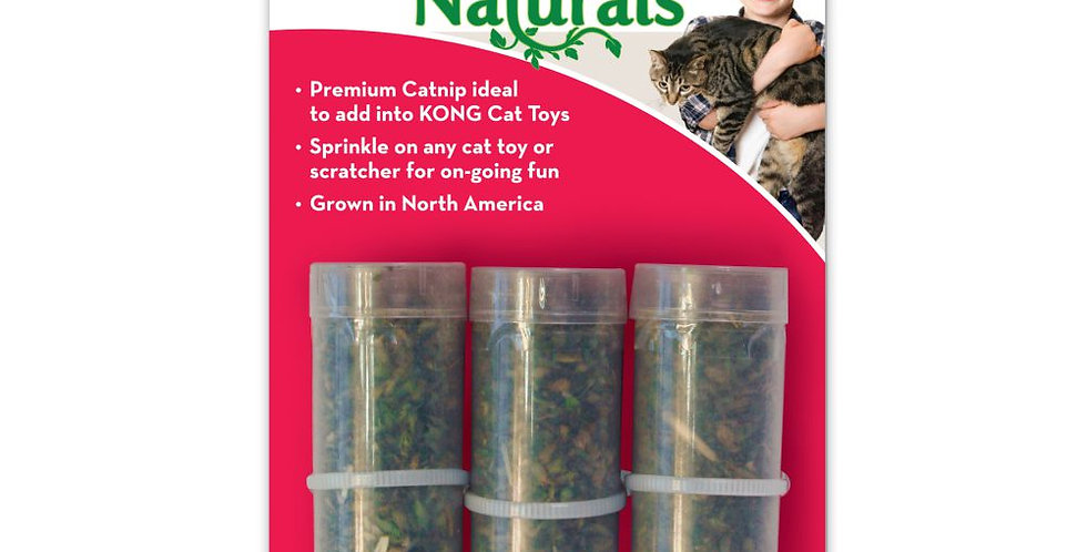 Kong Naturals CatNip, Hierba Gatera Premium 3tubos