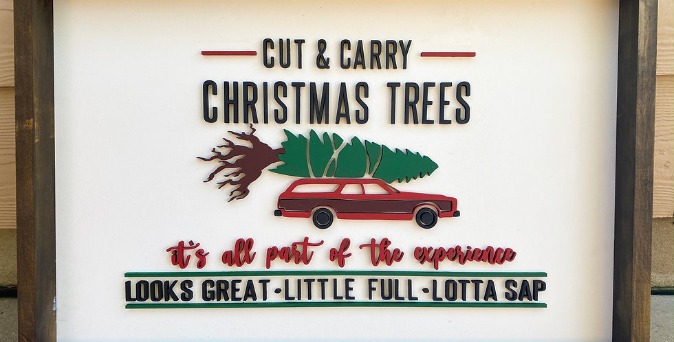 Christmas Vacation Christmas Tree Sign