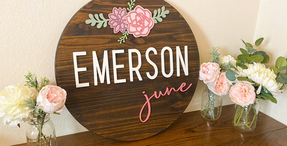 "18"" Wooden Name Sign"
